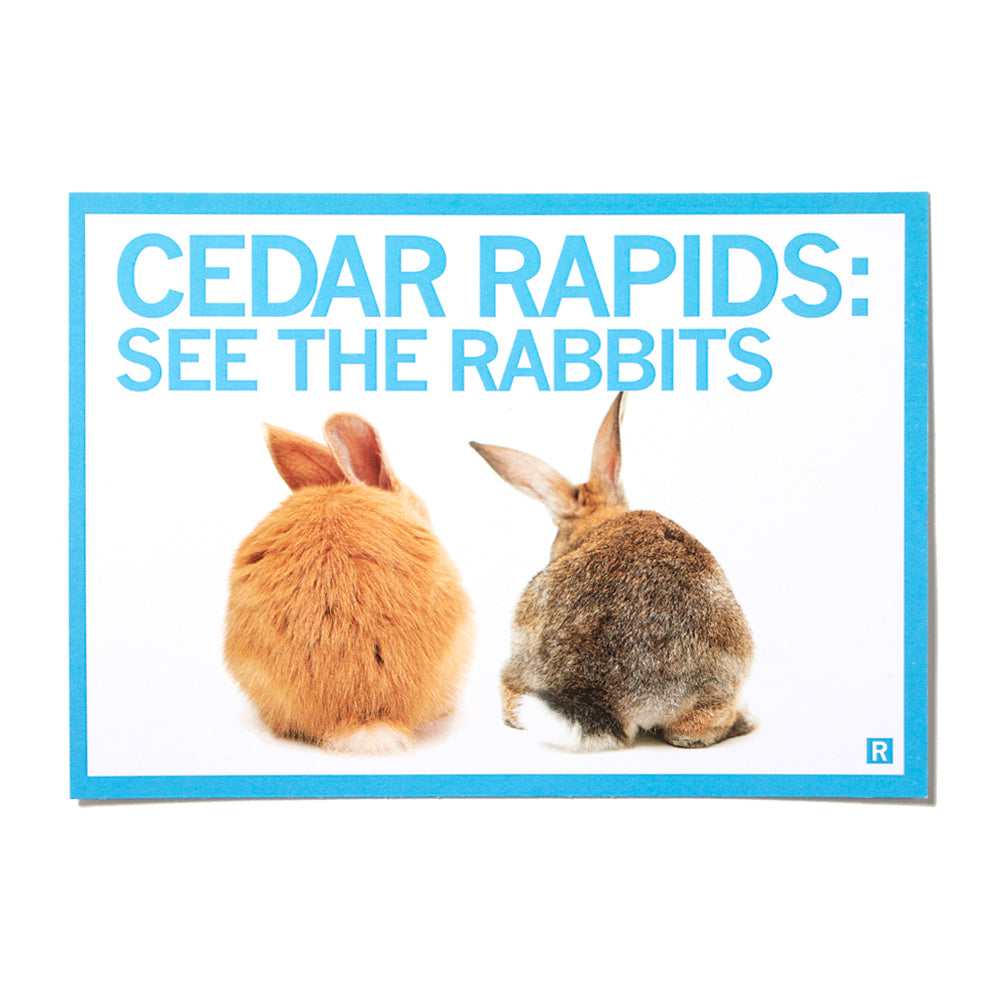 Cedar Rapids See The Rabbits Postcard