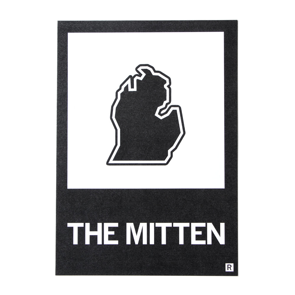 Michigan Mitten Outline Postcard