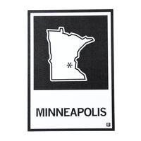 Minneapolis Minnesota State Outline Postcard