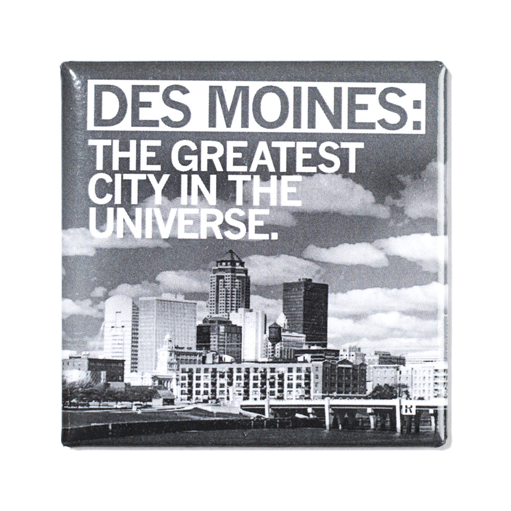 Des Moines Greatest Photo Metal Magnet
