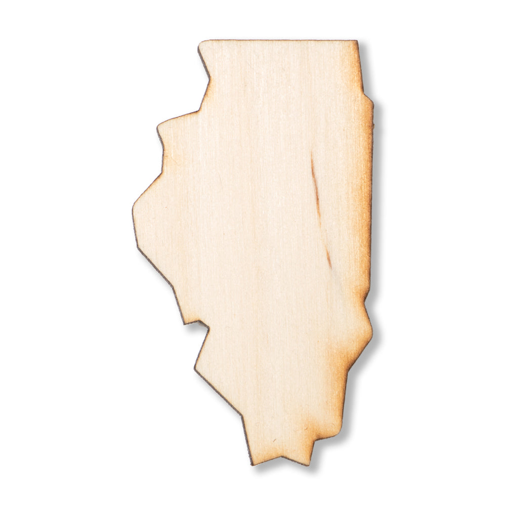 Illinois Wood Magnet