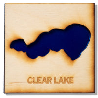 Clear Lake Wood Magnet