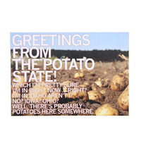 Greetings From The Potato State Postcard