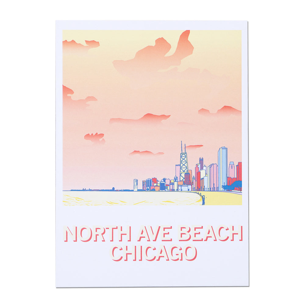 North Ave Beach Chicago Postcard