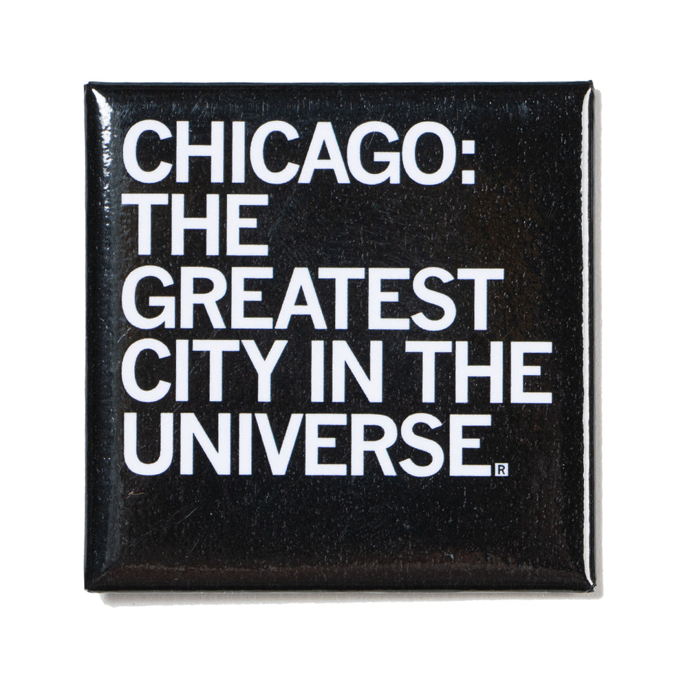 Chicago: The Greatest City Text Metal Magnet
