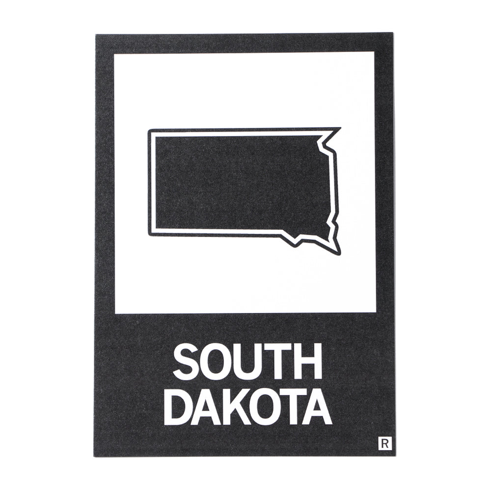 SD State Outline Postcard