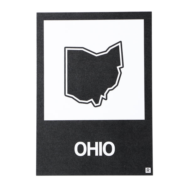 Ohio State Outline Postcard