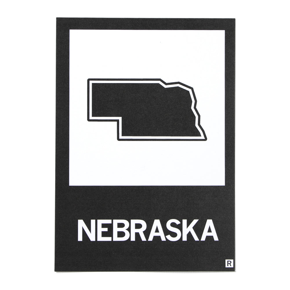 Nebraska State Outline Postcard