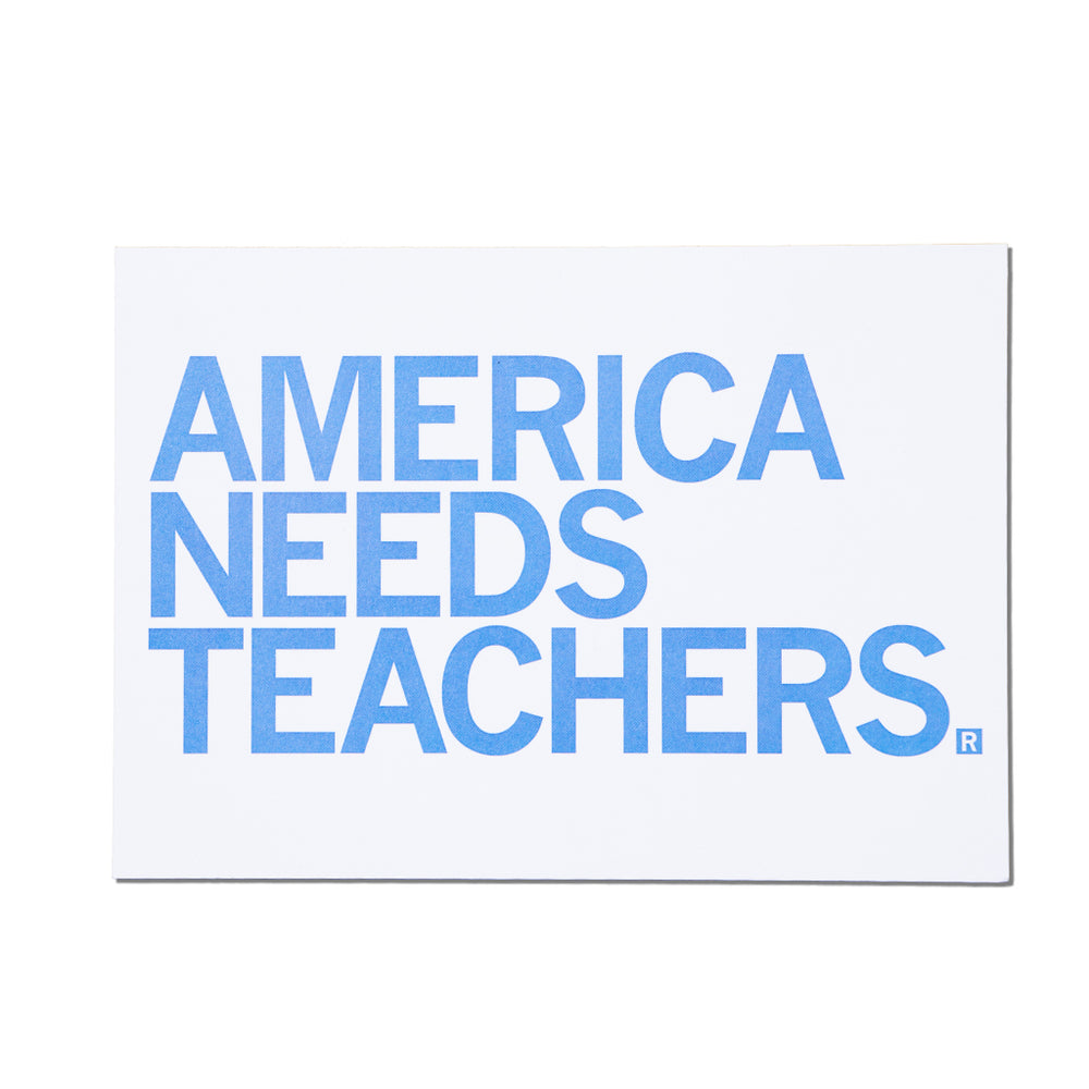 America Needs Teachers Text Postcard