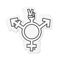 Transgender Peace Symbol Sticker