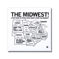 Midwest Map Metal Magnet