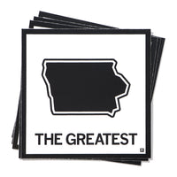 The Greatest Iowa State Outline Sticker
