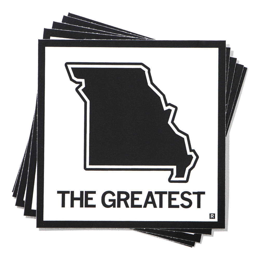 The Greatest Missouri State Outline Sticker