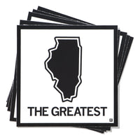 The Greatest Illinois State Outline Sticker