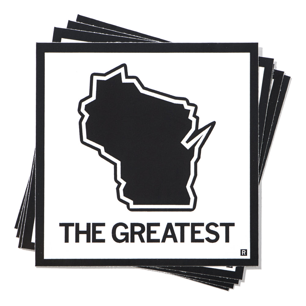 The Greatest Wisconsin State Outline Sticker