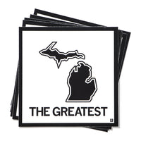 The Greatest Michigan State Outline Sticker