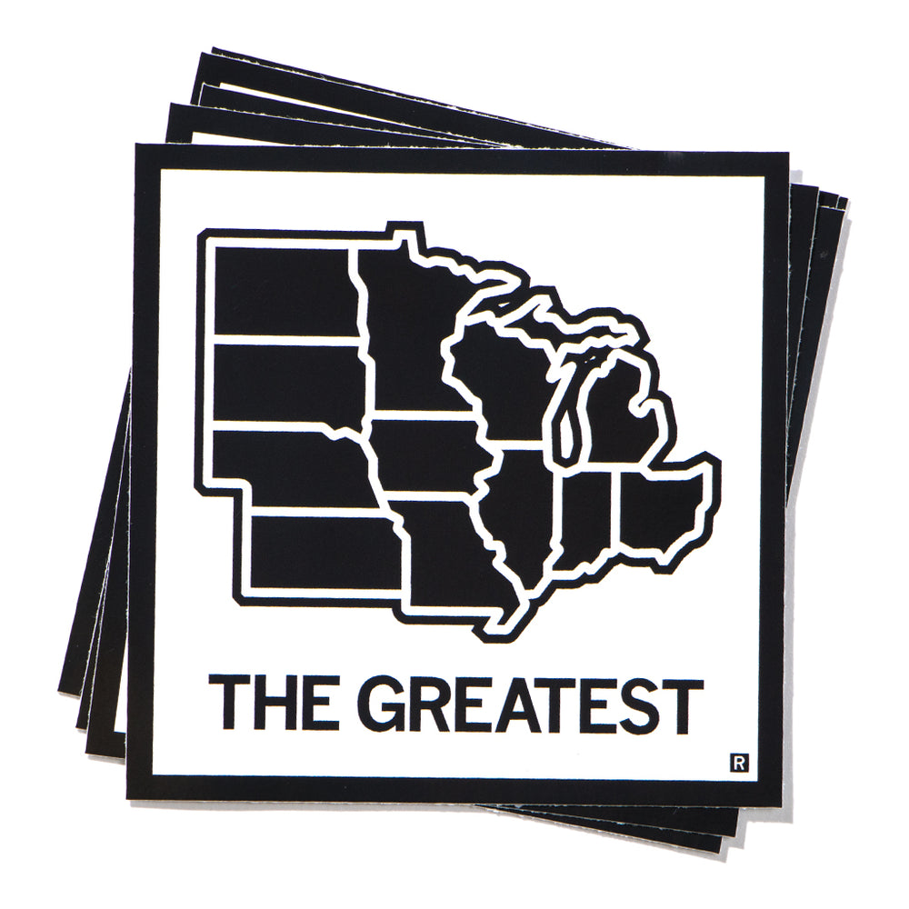 The Greatest Midwest Map Sticker