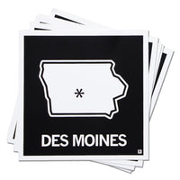 Des Moines City State Outline
