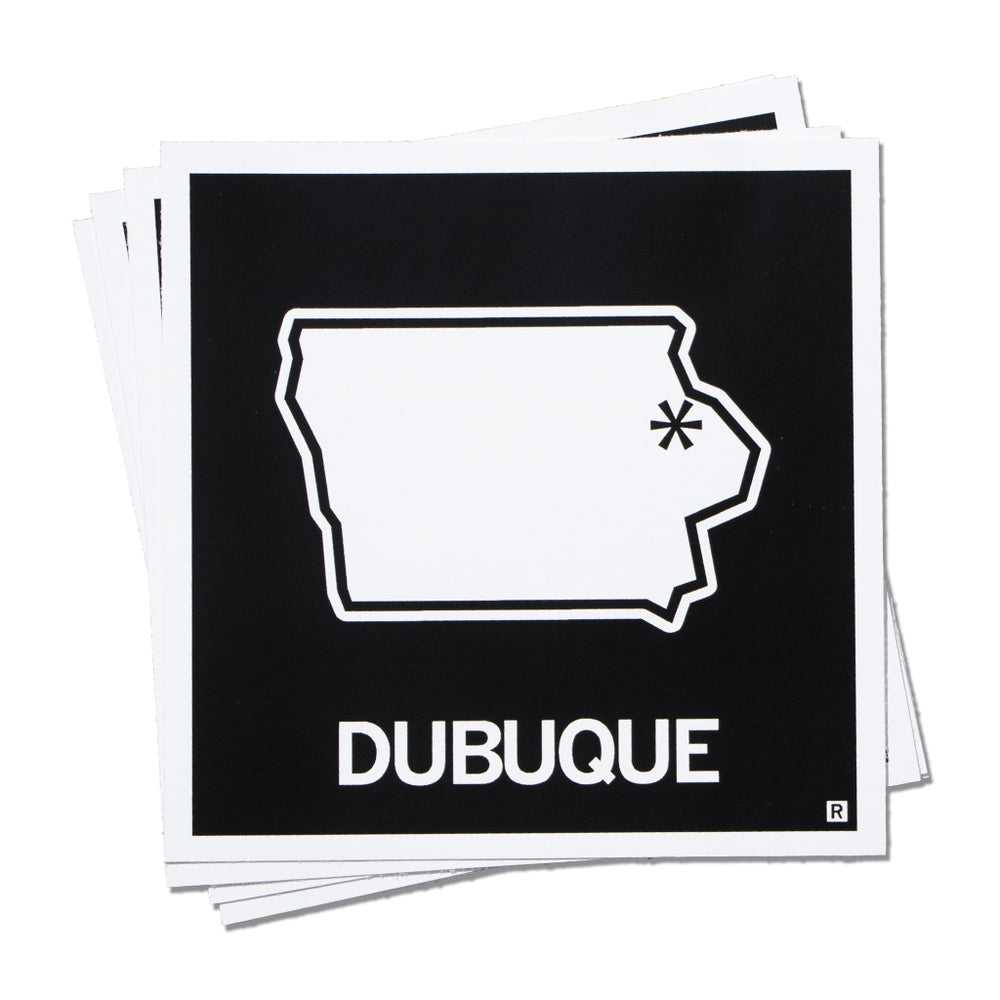Dubuque IA State Outline Sticker