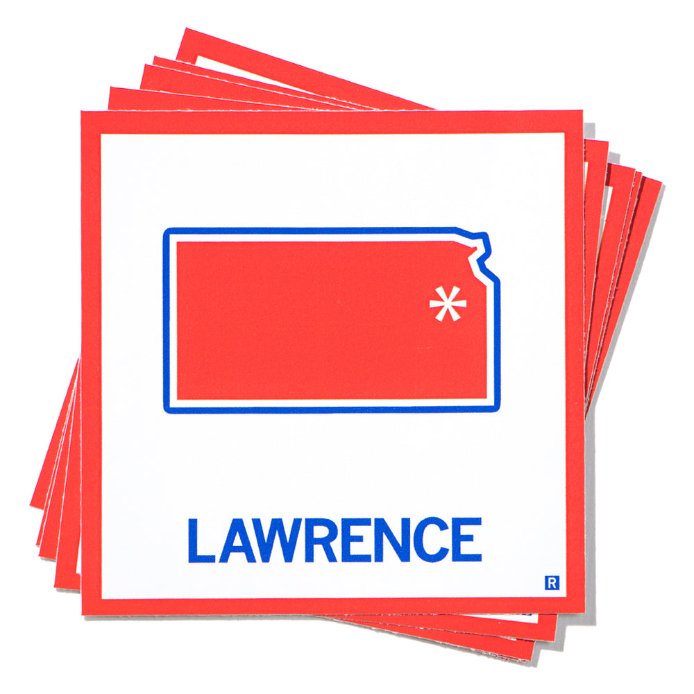 Lawrence State Outline Sticker