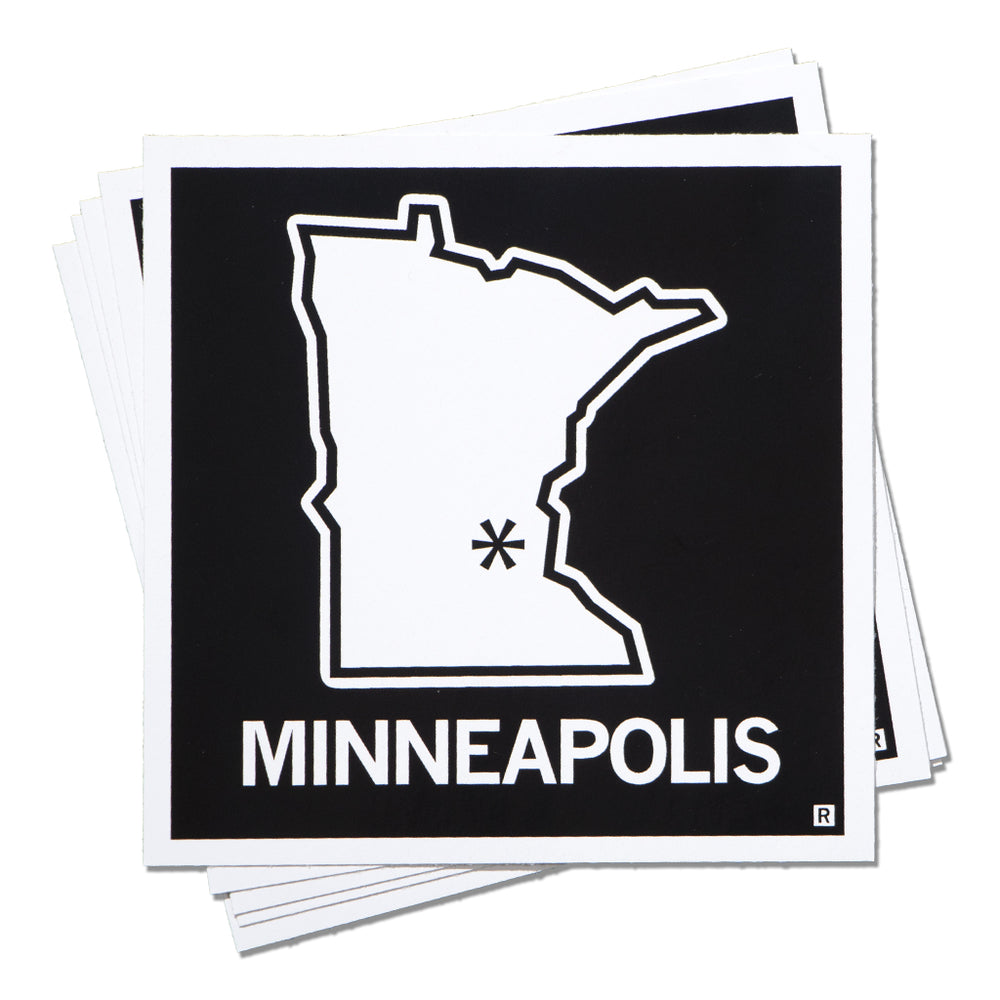 Minneapolis MN State Outline Sticker