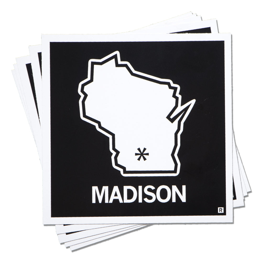 Madison WI State Outline Sticker