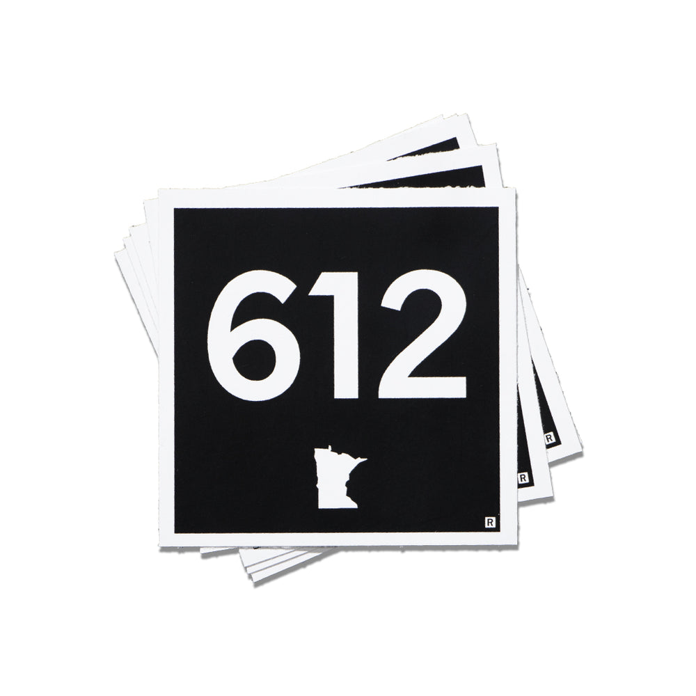 612 Logo Mini Sticker