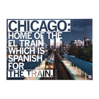 Chicago El Train Photo Postcard
