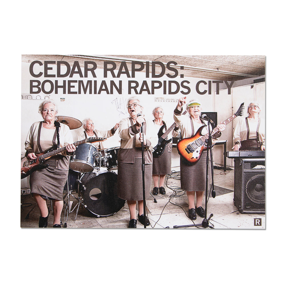 CR Bohemian Rapids City Photo Postcard
