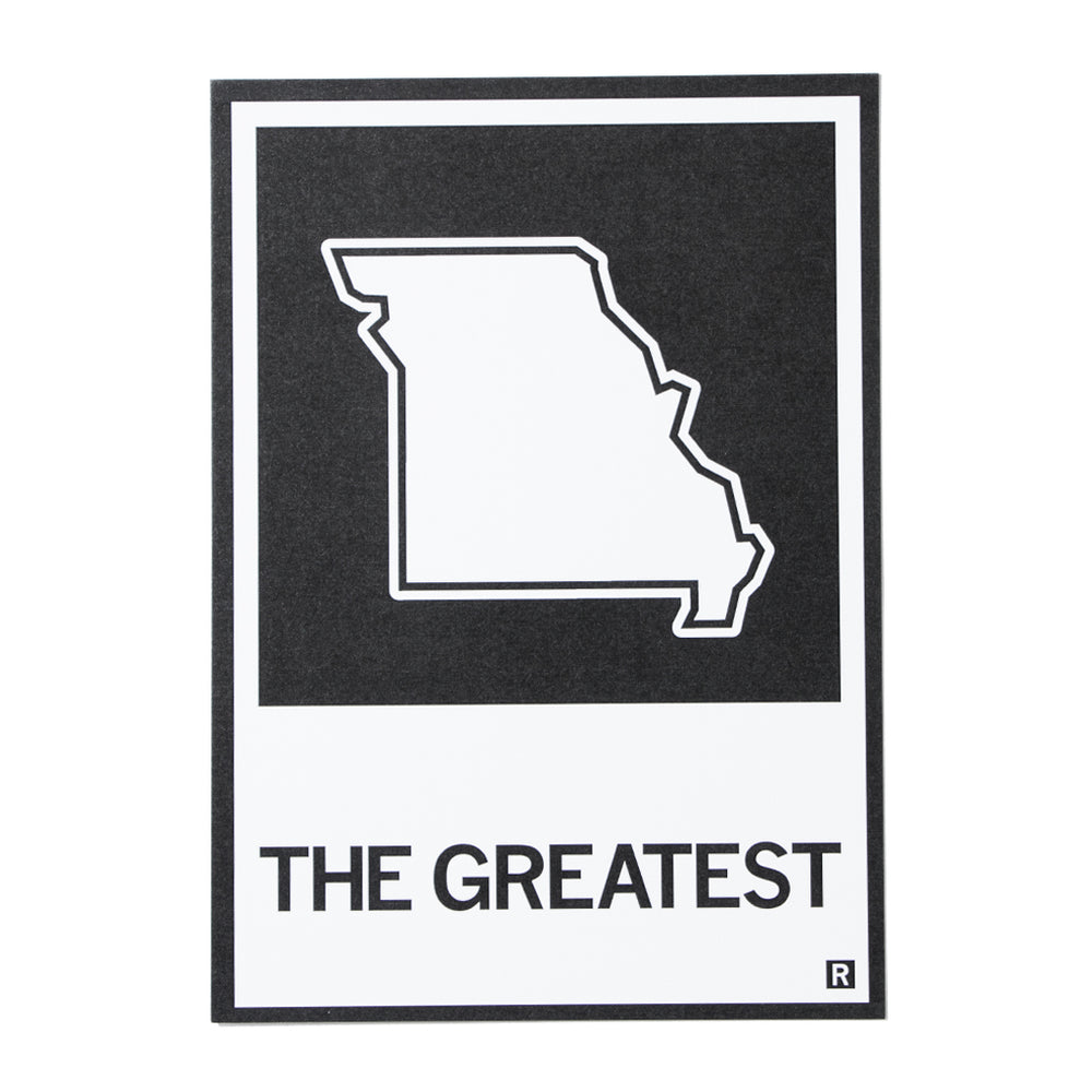 The Greatest Missouri State Outline Postcard