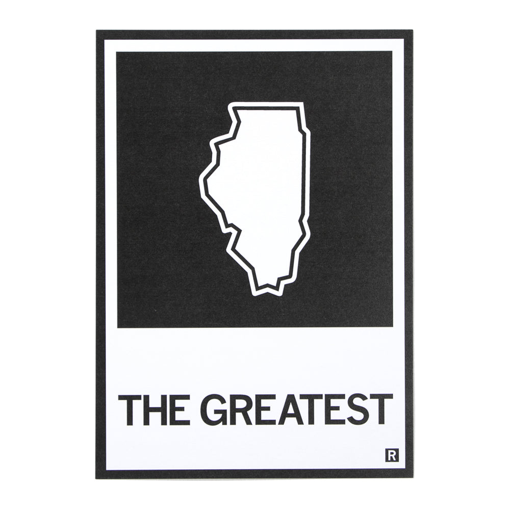 The Greatest Illinois State Outline Postcard