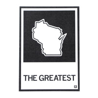 The Greatest Wisconsin State Outline Postcard