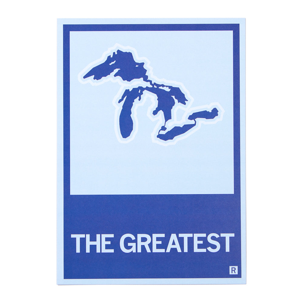 The Greatest Great Lakes Illustration Postcard