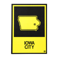 Iowa City State Outline Postcard