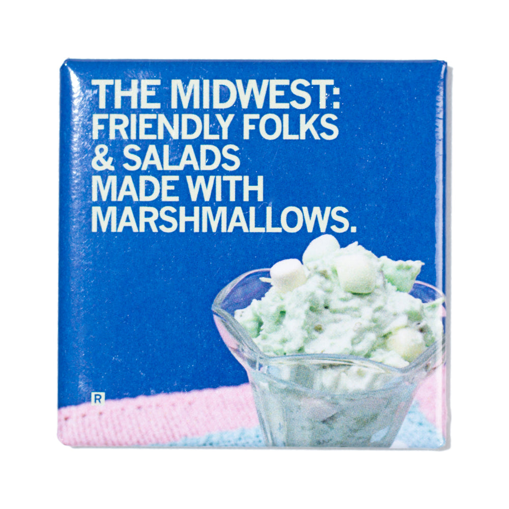 Salad With Marshmallows Photo Metal Magnet