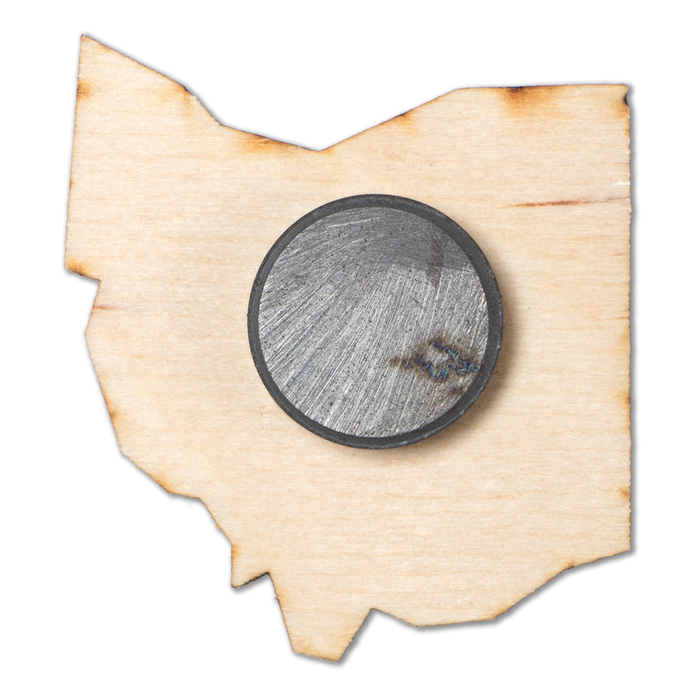 Ohio Wood Magnet