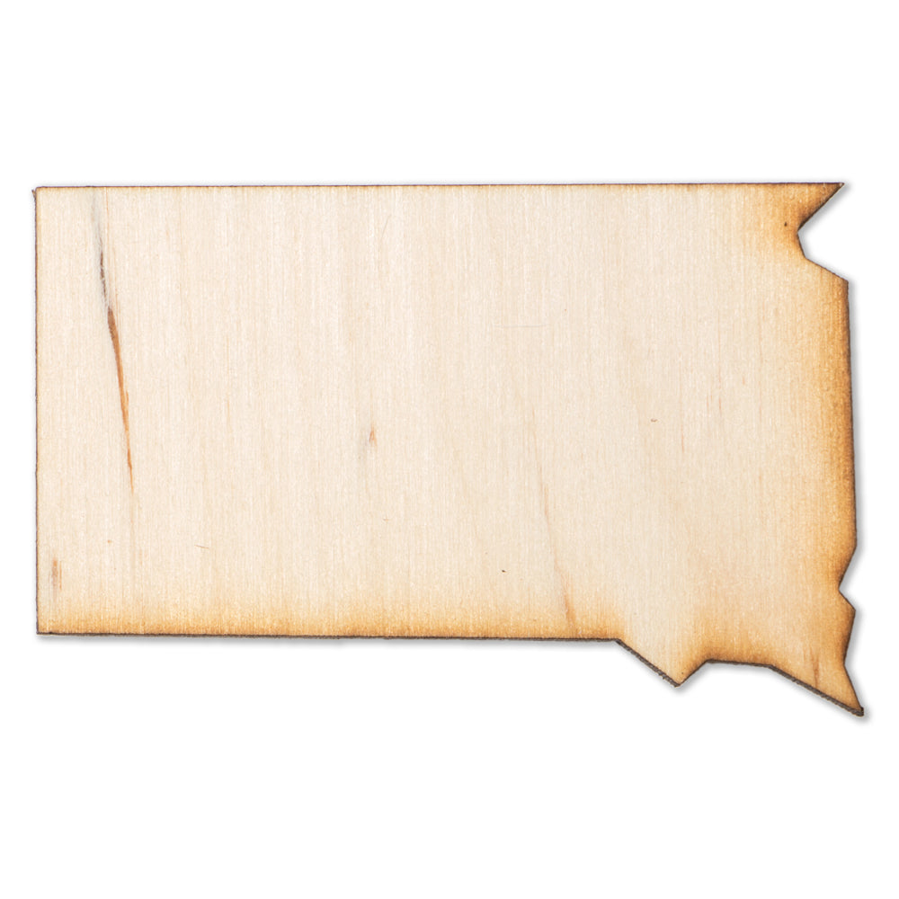 South Dakota Wood Magnet