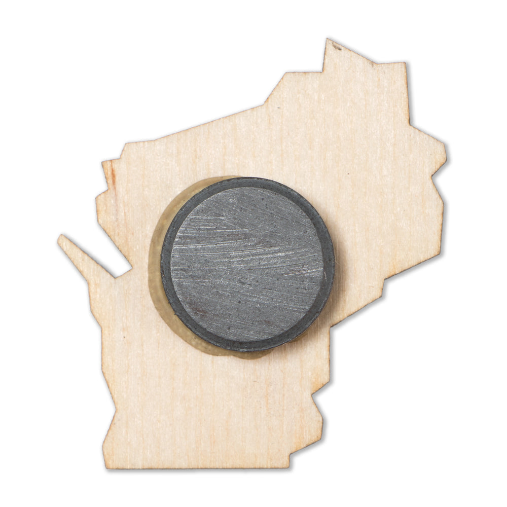 Wisconsin Wood Magnet