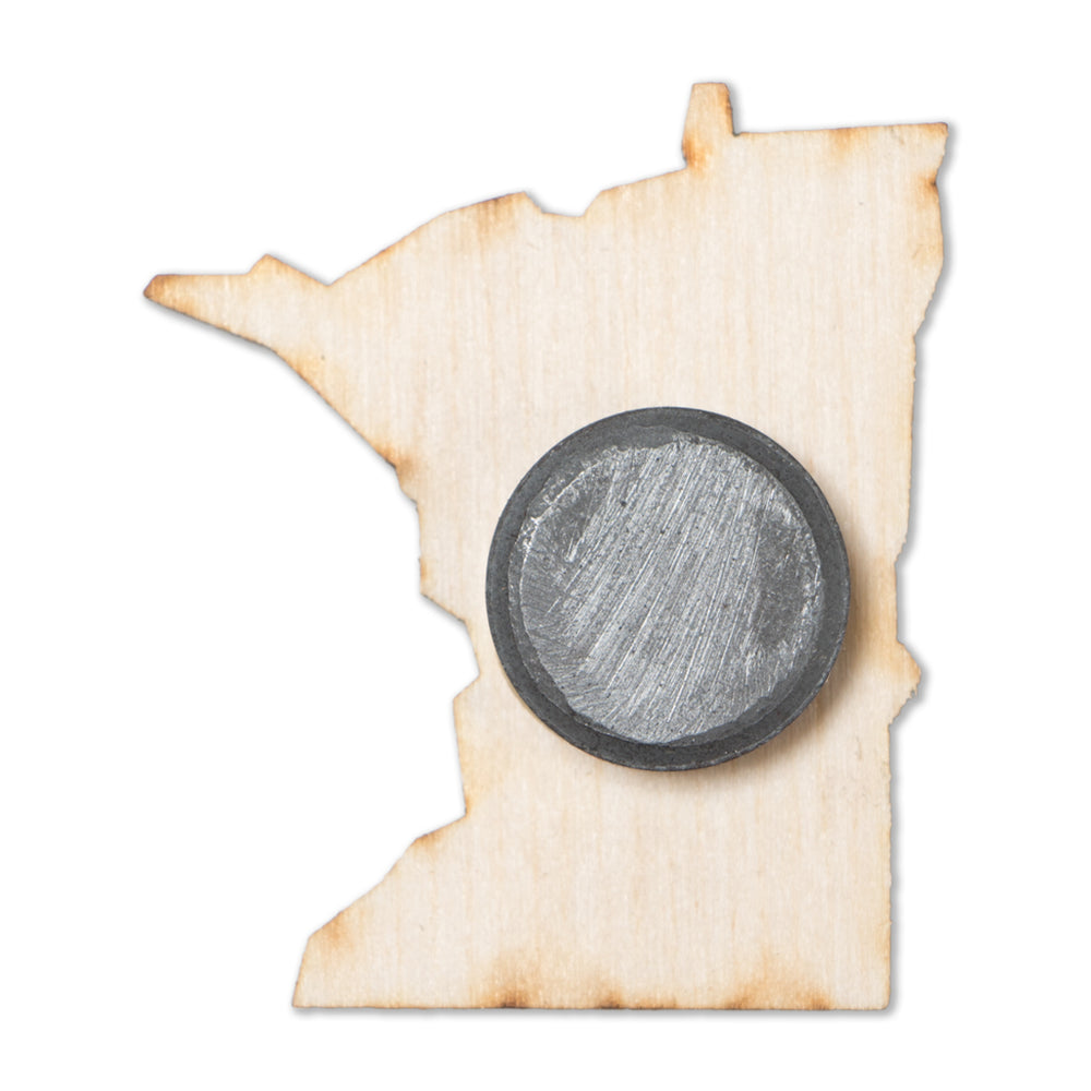 Minnesota Wood Magnet
