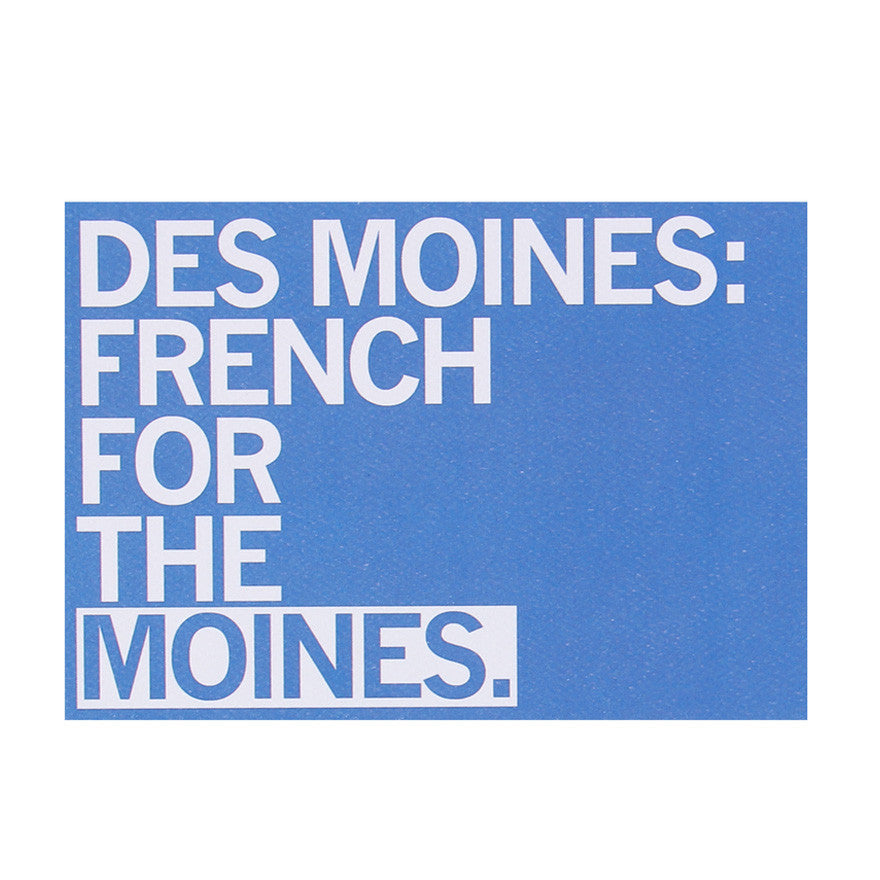 Des Moines French Postcard