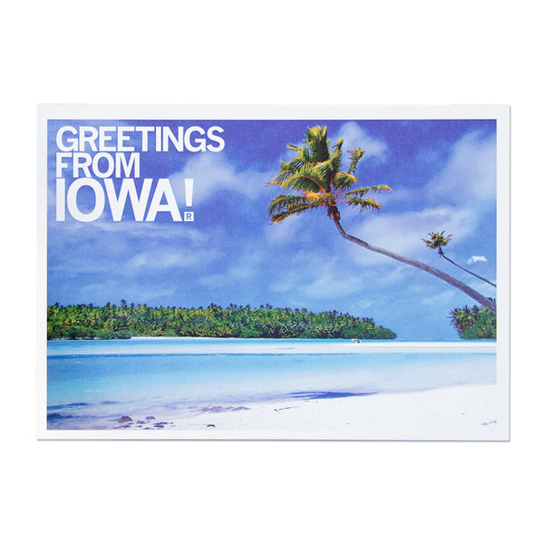 Greetings From Iowa Beach Photo Postcard