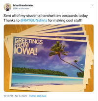 Greetings Iowa Beach Postcard