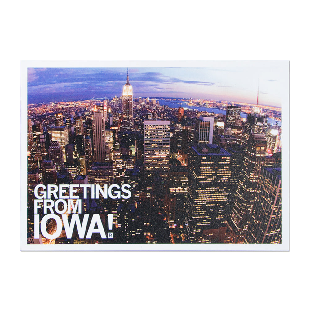 Greetings From Iowa Skyline Photo Postcard