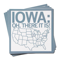 Iowa There It Is Sticker