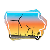 Iowa Windmill Color Sticker