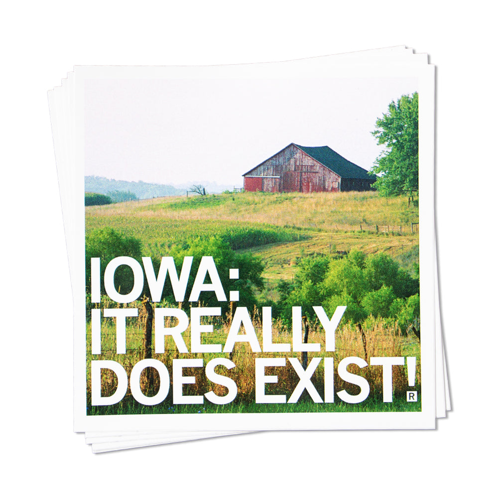 Iowa It Really Does Exist! Sticker