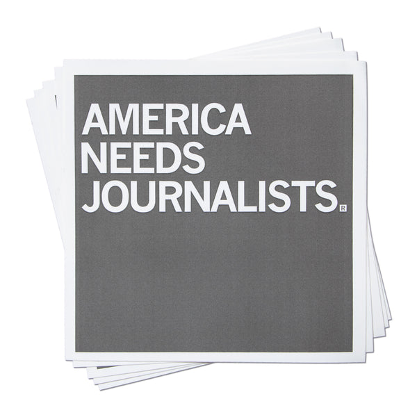 America Needs Journalists Sticker
