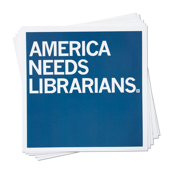 America Needs Librarians Sticker