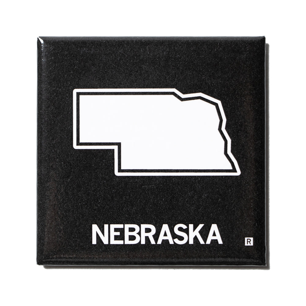 Nebraska Outline Metal Magnet