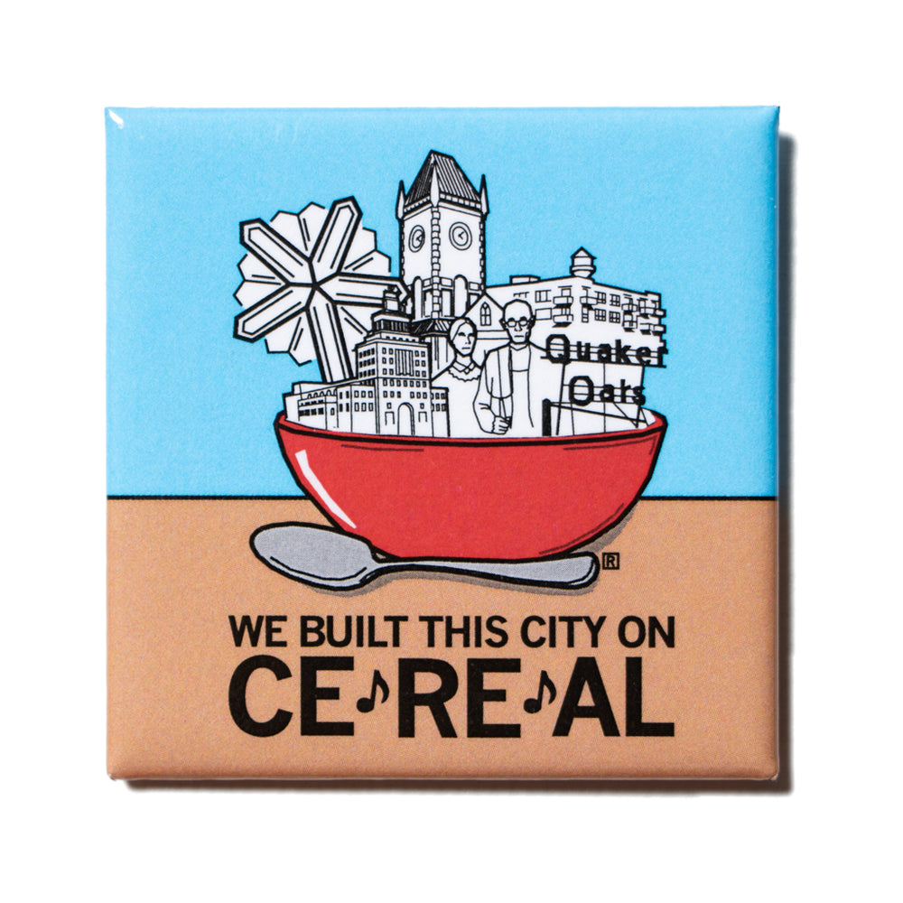 We Built This City Metal Magnet